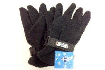 Ddi Black Fleece Gloves Man Size (pack Of 24)