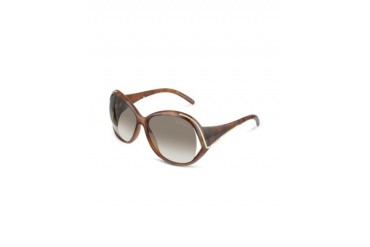 Oroya - Scrolled Metal Signature Round Frame Sunglasses
