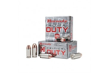 Hornady Critical Duty Ammunition - 9mm Luger +p 135gr Flexlock Critical Duty Ammo