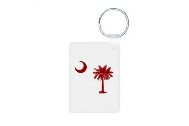 Palmetto Cresent Moon Moon Aluminum Photo Keychain by CafePress