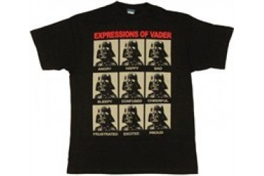 Star Wars Expressions of Darth Vader T-Shirt