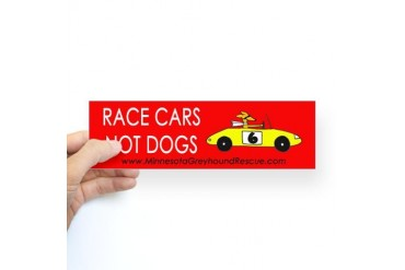 Race Cars, Not Dogs Bumper Sticker
