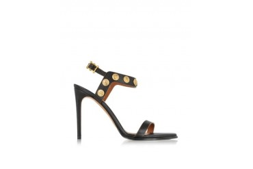Gryphon Coin High Heel Leather Sandal