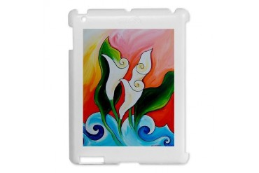 Calla Lily Sea Art iPad 2 Hard Case by CafePress
