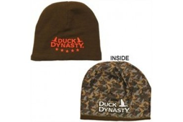 Duck Dynasty Brown Camouflage Reversible Printed Embroidered Beanie