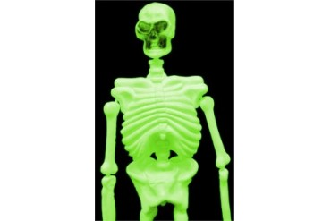 Life Size Glow In The Dark And Black Light 3D Skeleton (5 Feet Tall)