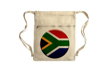 South African Button Sack Pack Flag Cinch Sack by CafePress