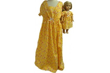 Matching Doll And Girl Clothes Yellow Sleepwear Size 12