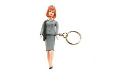 Barbie Flight Attendant Career Replica Resin Keychain