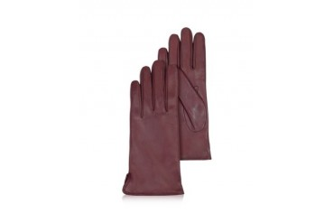 Women's Burgundy Cashmere Lined Italian Leather Gloves