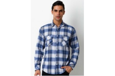 Travis Jeans & Co Flanel II Bluewhite Shirt