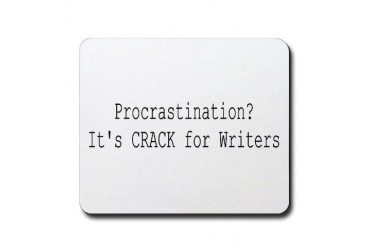 Procrastination Funny Mousepad by CafePress