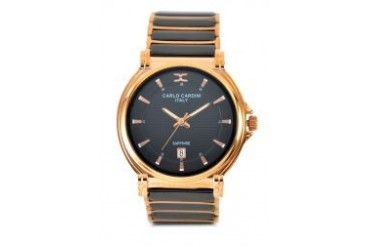 Carlo Cardini Carlo Cardini watch 4005GC-RG-4 Black / Gold