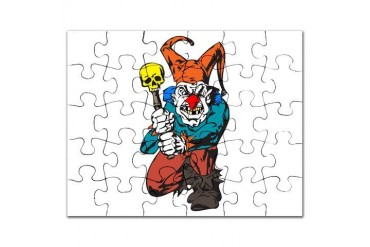 evil clown with skull.png Fantasy Puzzle by CafePress