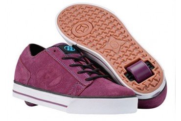 Heely's Plush Roller Shoe (Purple/Turquoise/White)