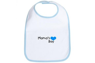 Mama's Boy Baby Bib by CafePress