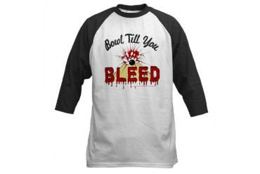 Bowl Till you Bleed Baseball Jersey