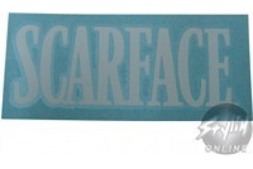 Scarface Name White Rub On Decal