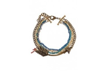 Arrow with Multicolored Chains Bracelet