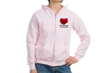 Proud Mom Of A Med Student Mother's day Women's Zip Hoodie by CafePress