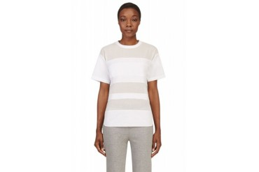 T By Alexander Wang White Multi texture T shirt