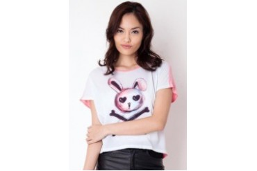 Ninety Degrees Bunny Crop SS T-shirt
