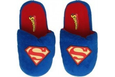DC Comics Superman Glow in the Dark Logo Slippers