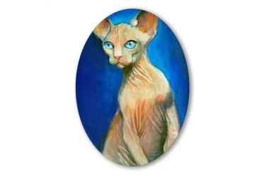Sphynx cat 15 Pets Oval Ornament by CafePress