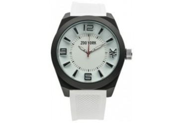 White Rubber Watch with White Dial