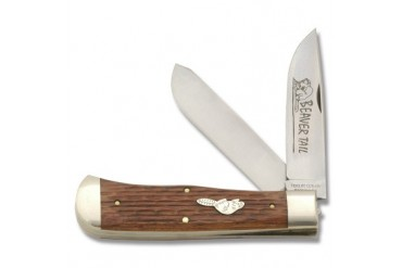 TidiouteBeavertail Trapper with Jigged Babinga Wood Handle