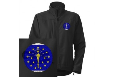 Flag of Indiana Usa Women's Performance Jacket by CafePress
