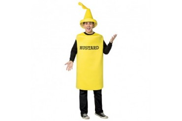 Adult Mustard Squirt Bottle Halloween Costume  sc 1 st  Anyprices.com & Adult Ketchup Squirt Bottle Halloween Costume - Price Comparison