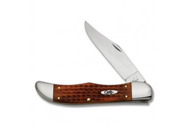 Case Pocket Worn Harvest Orange Folding Hunter