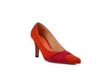 KIMIHARA Sofia Suede Shoes Heels Orange Pink