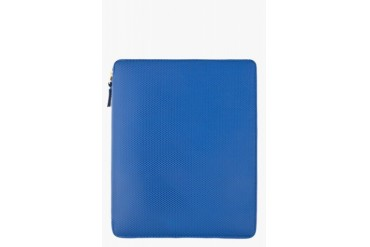 Comme Des Garons Wallets Blue Leather Ipad Case