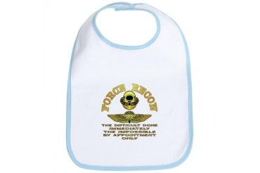 Force Recon The Difficult Military Bib by CafePress