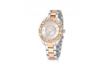 Just Style Two Tone Stainless Steel Women's Watch