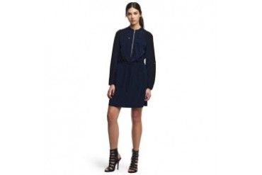 Cheryl Jersey-Sleeve Shirtdress