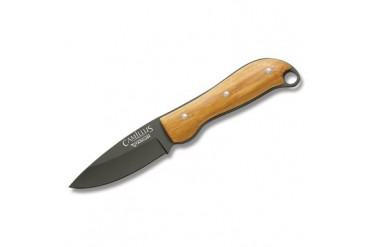 Camillus Carbonitride Titanium Drop Point Fixed Blade with Bamboo Handle Scales