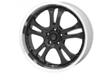American Racing Wheels AR393 Casino, 16x7 with 5 on 4.5 Bolt Pattern - Gloss Black With Machined Lip AR3936766 Wheels