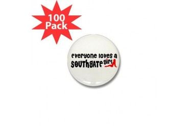 Everyone loves a Southgate Girl Mini Button 100 p Michigan Mini Button 100 pack by CafePress