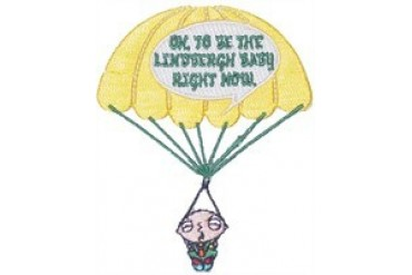 Family Guy Stewie Lindbergh Baby Patch