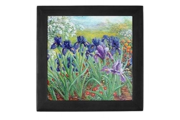 Iris Garden II Keepsake Box by CafePress