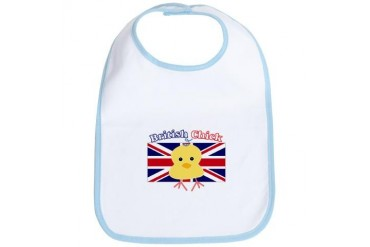 British Chick Baby Humor Bib by CafePress