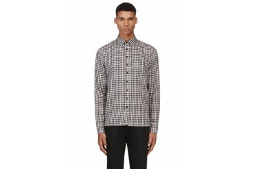 Rag And Bone Blue And White Gingham Check Shirt