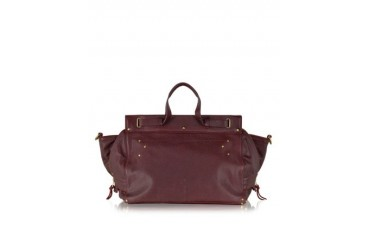 Carlos Burgundy Leather Tote