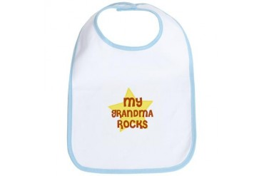 MY GRANDMA ROCKS Baby Bib by CafePress