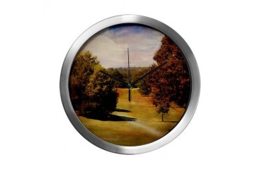 Golf Course IV Sports Modern Wall Clock by CafePress