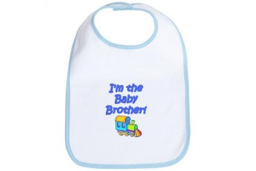 Baby Brother Train Engine Baby Bib by CafePress