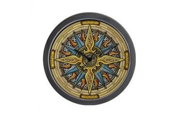 Celtic Compass Art Wall Clock by CafePress